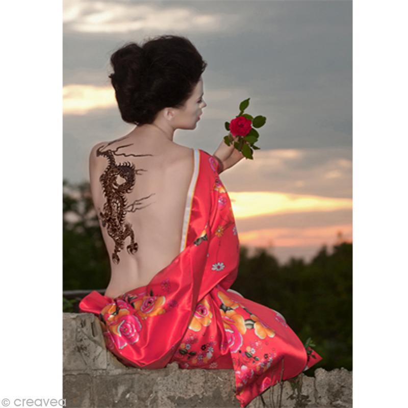 Image 3D Femme - Chinoise tatouage - 30 x 40 cm - Photo n°1