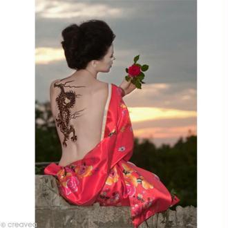Image 3D Femme - Chinoise tatouage - 30 x 40 cm