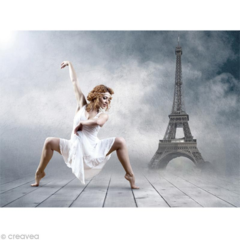 Image 3D Femme - Danseuse Tour Eiffel - 30 x 40 cm - Photo n°1