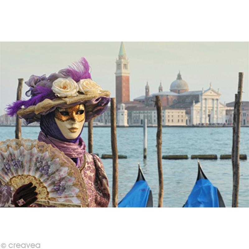 Image 3D Divers - Déguisement Venise - 30 x 40 cm - Photo n°1