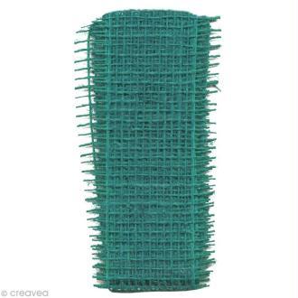 Bande de jute Turquoise - 5 cm x 100 cm