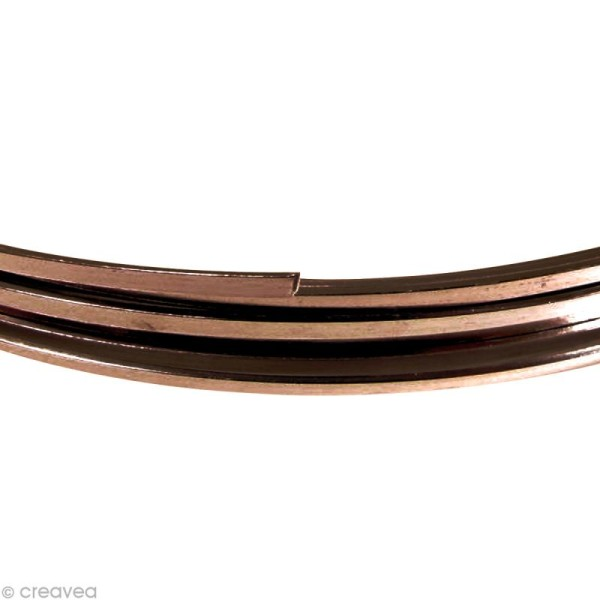 Fil Alu plat 3,5 mm - Chocolat - 5 m - Photo n°1