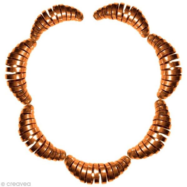 Fil Alu plat 3,5 mm - Orange safran - 5 m - Photo n°2