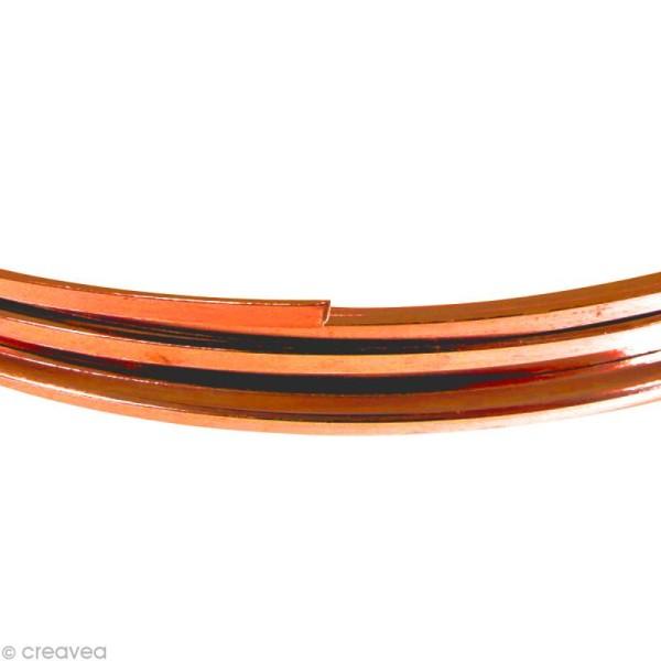 Fil Alu plat 3,5 mm - Orange safran - 5 m - Photo n°1