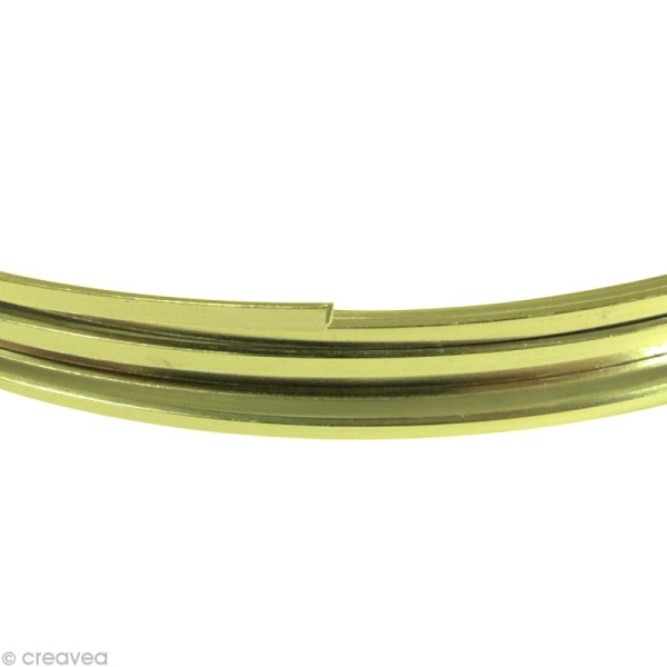 Fil Alu plat 3,5 mm - Vert pomme - 5 m - Photo n°1