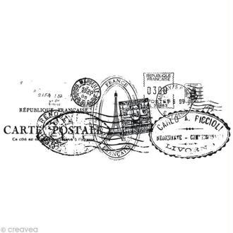 Tampon clear stamps Cachets de poste - 5 x 13 cm