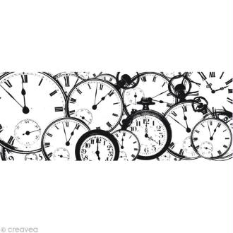 Tampon clear stamps Horloges - 5 x 13 cm