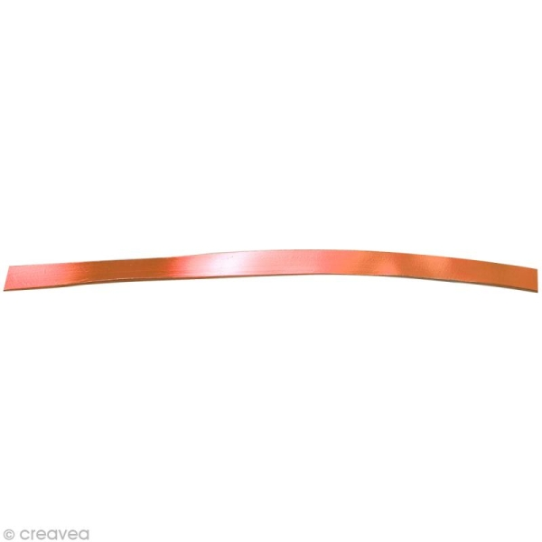 Fil aluminium plat 5mm orange cuivré x 5m - Photo n°1