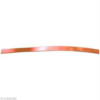 Fil aluminium plat 5mm orange cuivré x 5m