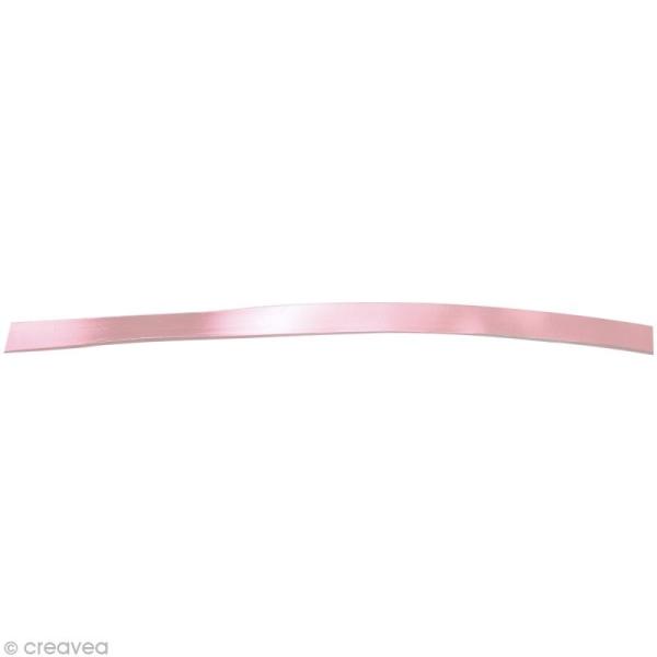Fil aluminium plat 5mm rose x 5m - Photo n°1
