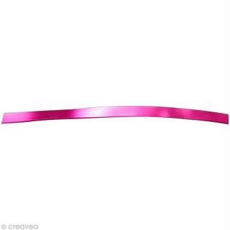 Fil aluminium plat 5mm rose vif x 5m