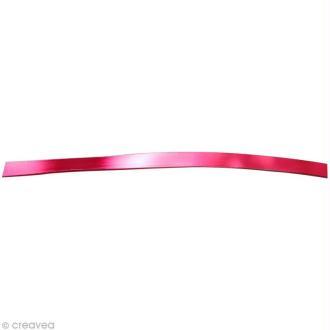 Fil aluminium plat 5mm rouge x 5m