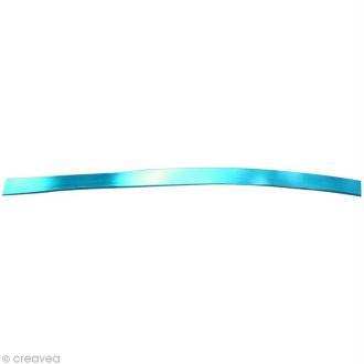 Fil aluminium plat 5mm turquoise x 5m