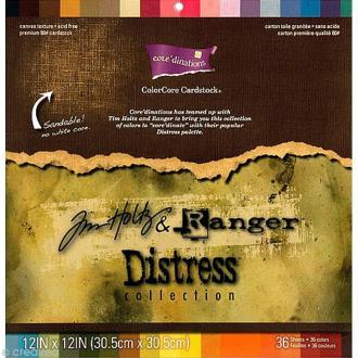 Papier Scrap ColoreCore Jim Holtz & Ranger - 36 couleurs - 30,5x30,5cm