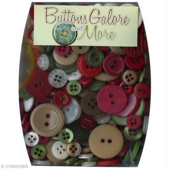 Assortiment de boutons - Thème Noël x 100 gr