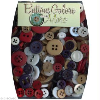 Assortiment de boutons - Thème Patriot x 100 gr