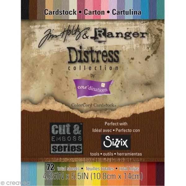 Papier Kraft couleur - Bloc Distress 10 x 14 cm - 72 pages - Photo n°1