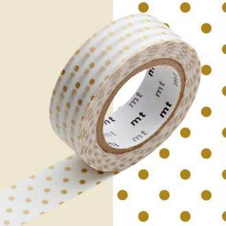 Masking Tape - Deco - Or petits pois - 15 mm x 10 m