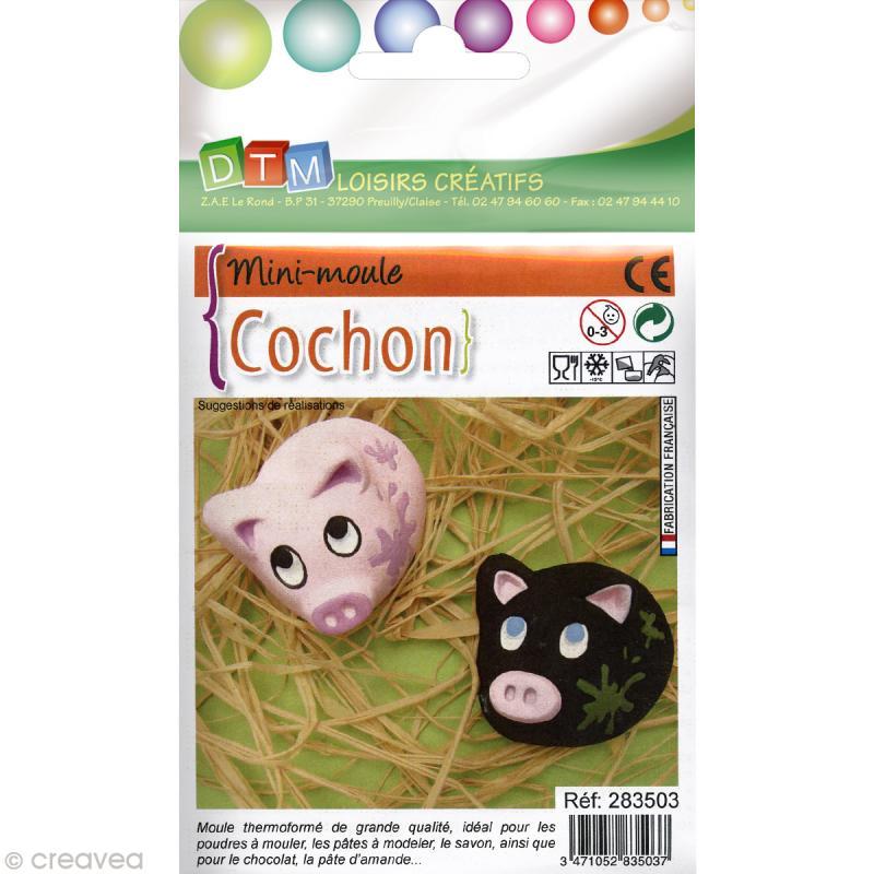 Moule thermoformé Cochon 4,5 cm - Photo n°1