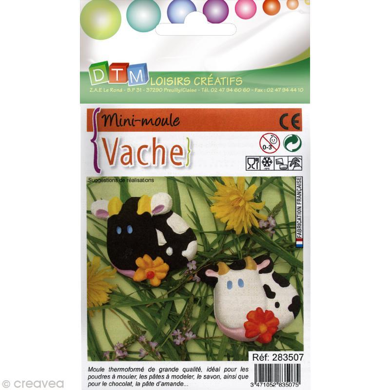 Moule thermoformé Vache 4,5 cm - Photo n°1