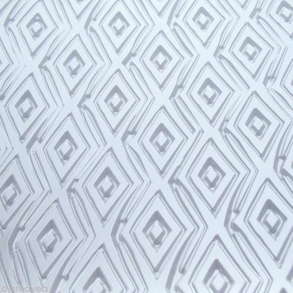 Plaque texture Fimo - Losanges - 17,5 x 12,5 cm - Photo n°2