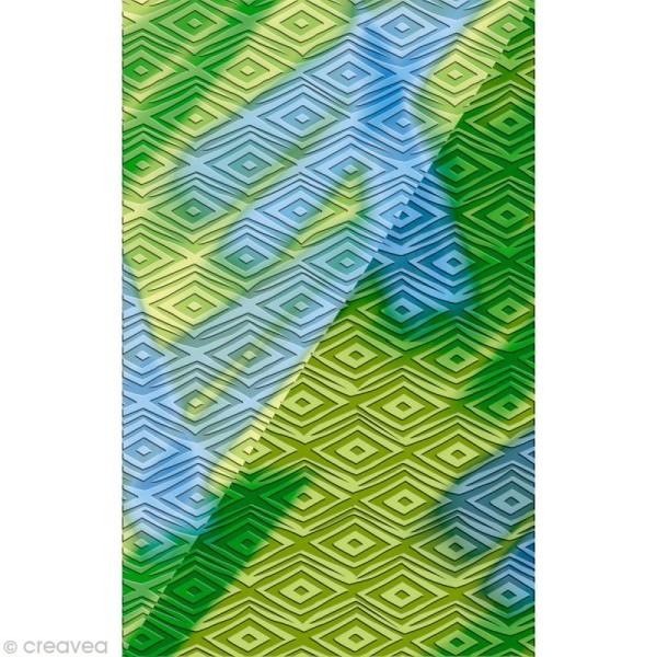 Plaque texture Fimo - Losanges - 17,5 x 12,5 cm - Photo n°3