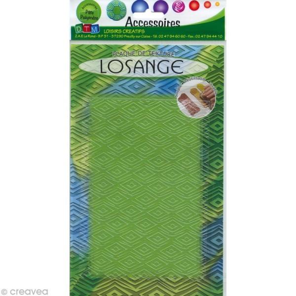 Plaque texture Fimo - Losanges - 17,5 x 12,5 cm - Photo n°1