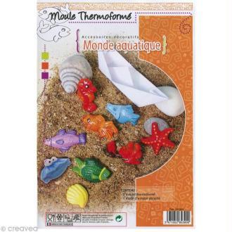 Moules thermoformés Aquatique - 9 formes