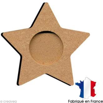 Support bougie chauffe plat étoile