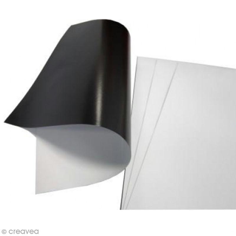 feuille magn tique imprimable 3 feuilles a4 papier magn tique creavea. Black Bedroom Furniture Sets. Home Design Ideas