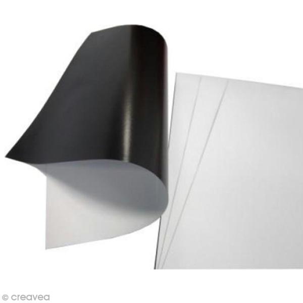 Feuille magnétique imprimable  - 3 feuilles A4 - Photo n°1