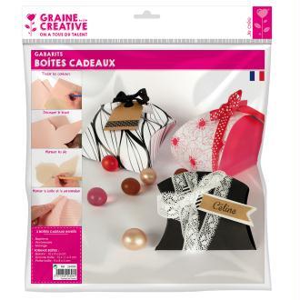 Gabarits boîte cadeau  - 3 formes