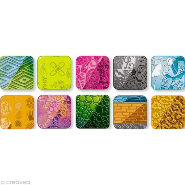 Plaque de texture 17,5 x 12,5 cm pour Fimo Lot de 10 - Photo n°2