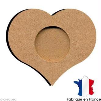 Support bougie chauffe plat coeur