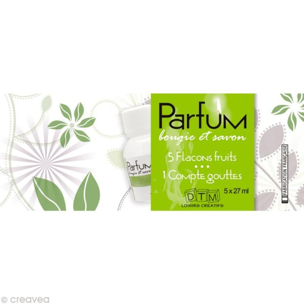 Parfum bougie et savon  - Assortiment Fruits 5 x 27 ml - Photo n°1