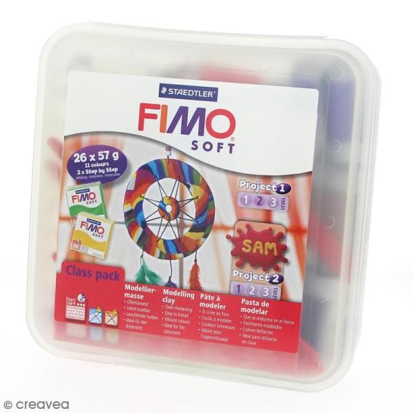 Atelier pâte Fimo Soft et accessoires - Assortiment 26 pains de 57 g - Photo n°1