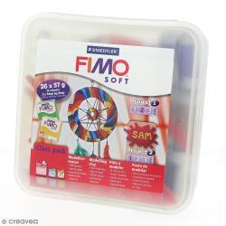 Atelier Fimo Soft et accessoires - Assortiment 26 pains de 57 g