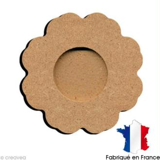 Support bougie chauffe plat fleur