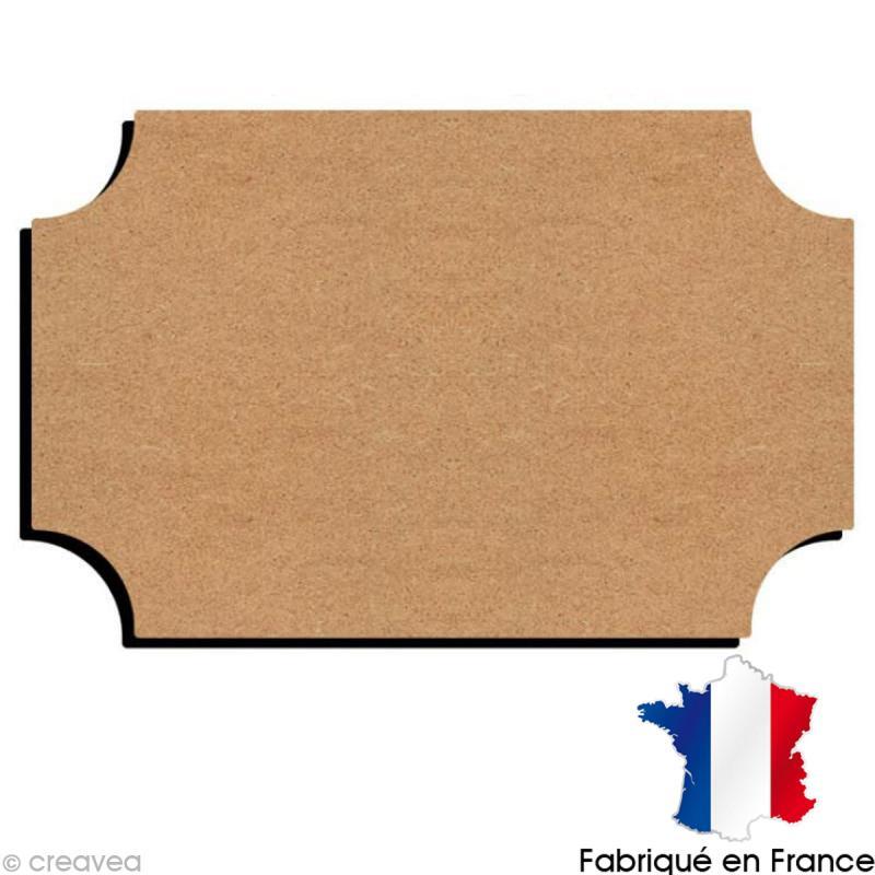 plaque de porte en bois 22 cm plaque de porte d corer creavea. Black Bedroom Furniture Sets. Home Design Ideas