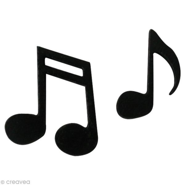 Note de musique miniature autocollante x 12 forme en - Note musique dessin ...