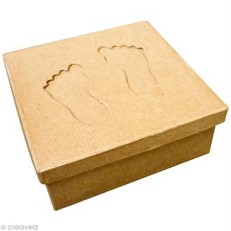 Boîte carrée avec passe-partout Pieds en carton