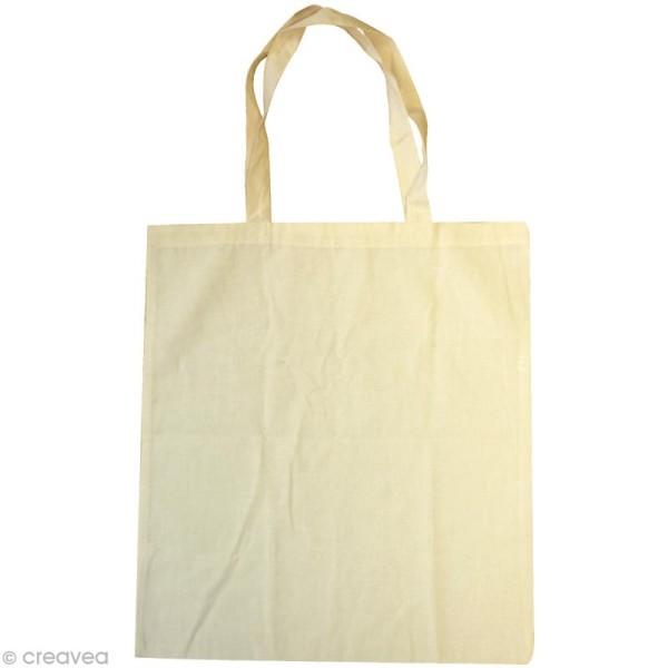 Sac tote bag en tissu à décorer 37.5 x 42 cm - Photo n°1