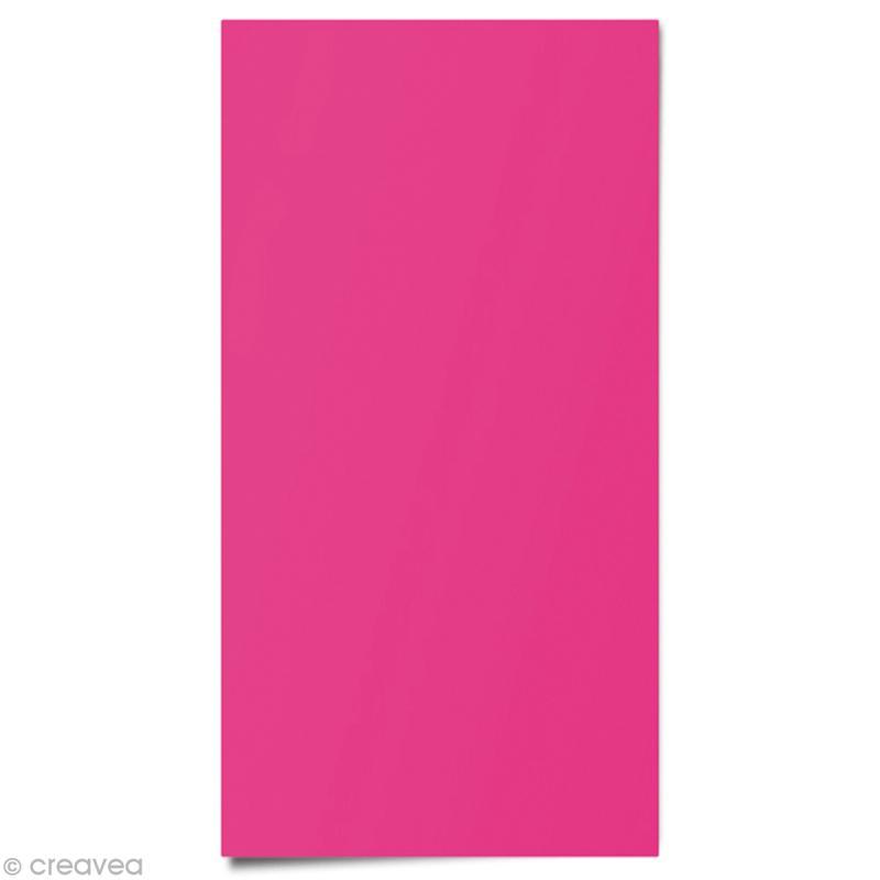 Tissu thermocollant fluo Rose 15 x 20 cm - Photo n°1