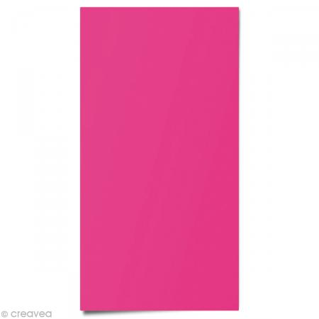 Tissu thermocollant fluo Rose 15 x 20 cm - Photo n°1