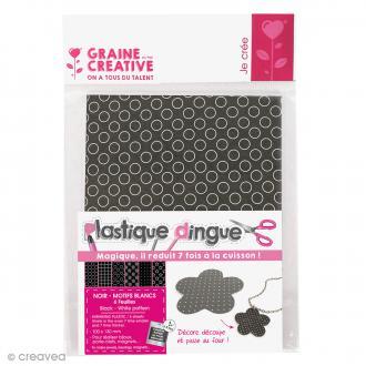 Plastique dingue à motifs - Noir et blanc x 6