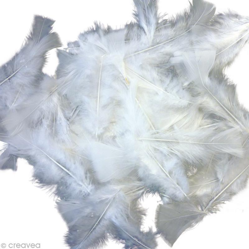 plume blanche grande quantit x 250 g plumes blanches creavea. Black Bedroom Furniture Sets. Home Design Ideas