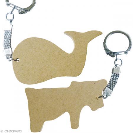 Assortiment porte-clé animal en bois x 10 - Photo n°6