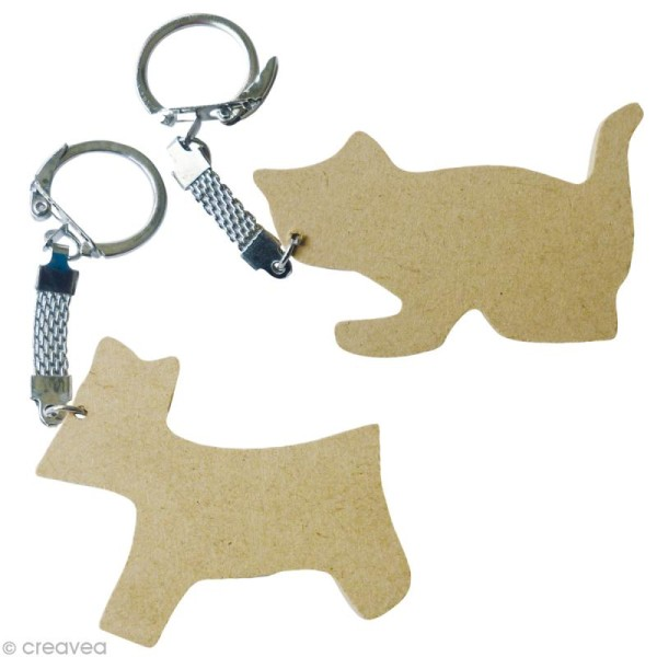 Assortiment porte-clé animal en bois x 10 - Photo n°3