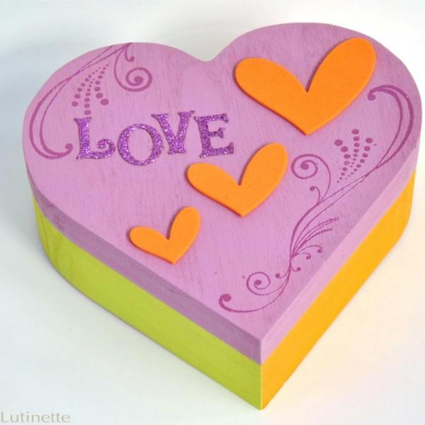 Boite à bijoux coeur en bois 17 cm - Photo n°2