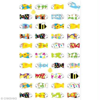 Funny stickers - epoxy - Poisson x 40